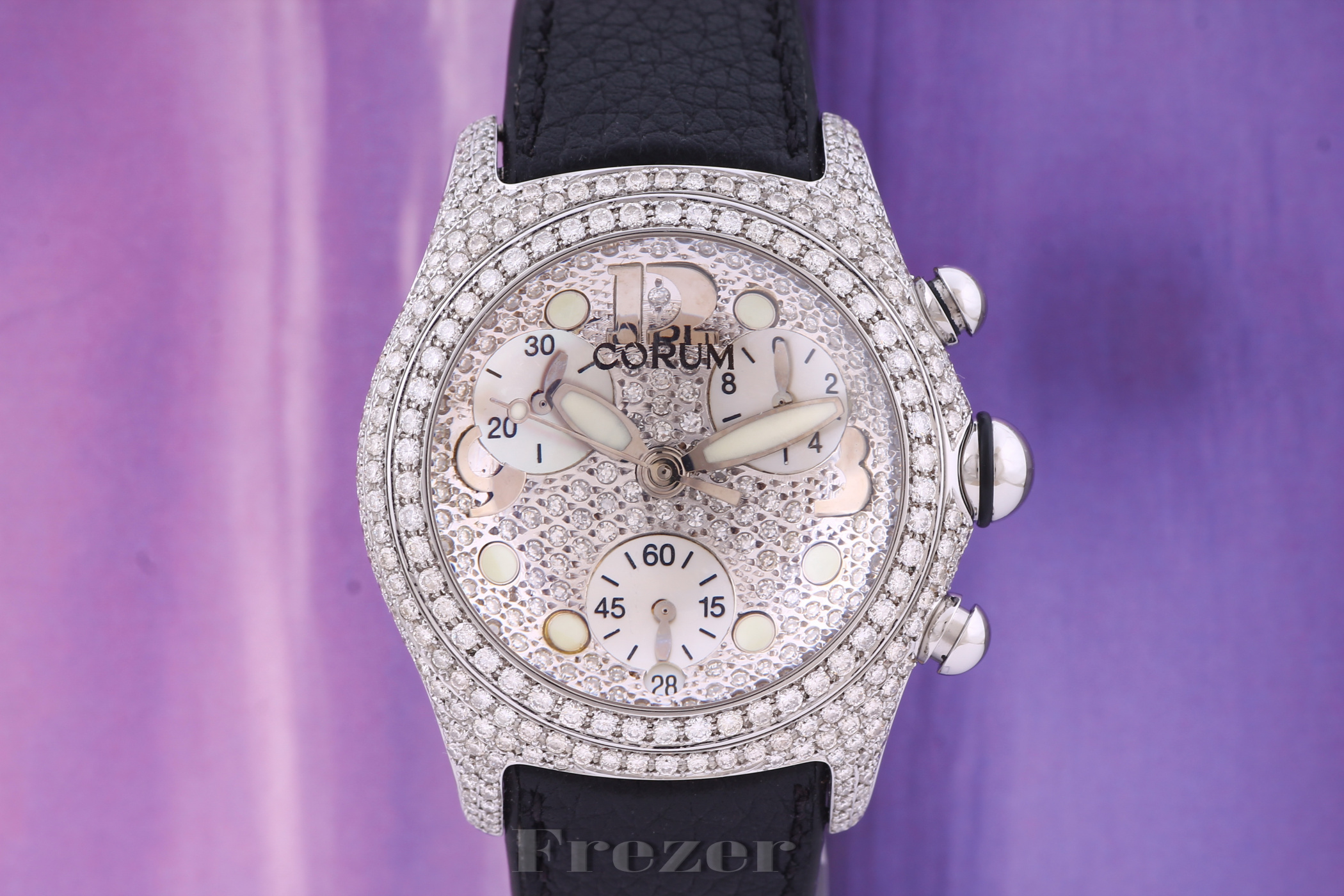 Corum Bubble Chronograph Steel & Diamonds